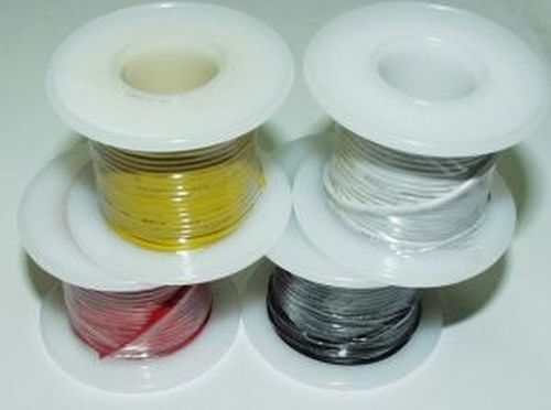 Hook-up Wire, 22 AWG, Copper Solid Core, Brown, 25 feet