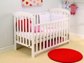 BRAND NEW East Coast Anna Dropside Cot in WHITE