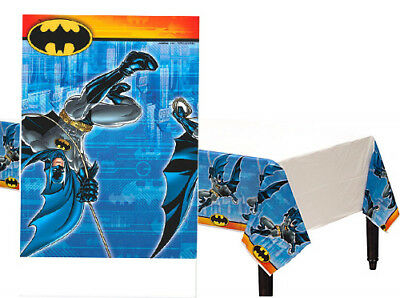 Batman Comic Superhero Plastic Table Cover Child's Birthday Party Supplies Boys - Boys Birthday Supplies