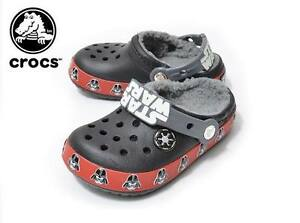 Crocs glow in the dark stars wars theme shoes-Boys youth size 13