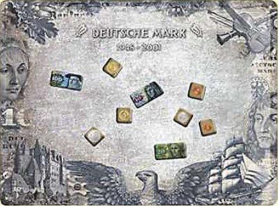 Magnet-Tafel - Deutsche Mark Blechschild, 40 x 30 cm, mit 9 Magneten