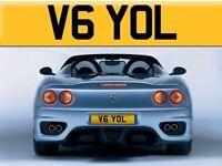 Private Number Plate V6 YOL - Cherished Registration Number - Yolande Fast Yol