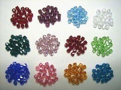 300 Swarovski Crystal Beads 4mm BICONE 5328 Crystal Beads BIRTHSTONE SET