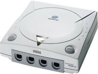 Sega dreamcast (unboxed) complete with controllers/power pack/scart lead/memory units/rumble pack
