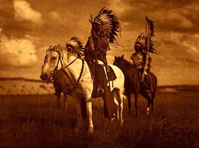 Sioux Chiefs 15x22 Edward Curtis Native American Indian Art (Edwards Curtis Native American Art)
