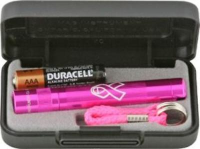 Maglite K3AMW2 Solitaire NBCF Breast Cancer Pink AAA (Maglite 2 Aaa Flashlight)