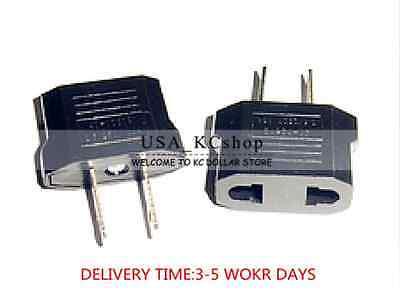 New European Euro EU to US USA Travel Wall Power Plug Outlet Converter Adapter