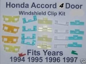 4 door honda accord windshield moulding molding plastic for 1997 honda civic window trim