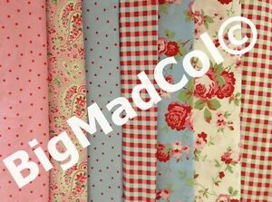 Ikea-Cath-Kidston-Rosali-Paisley-Floral-Dots-Checked-Fabric-Material-Pink-Blue