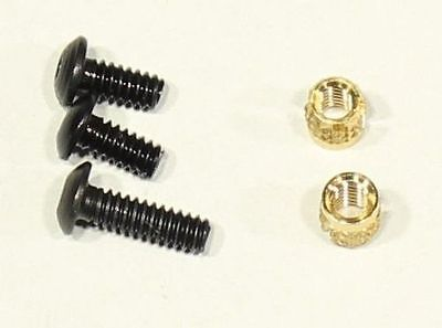 Standard Trigger Guard Upgrade Screw Kit 3 Screws and 2 Brass Inserts Screw Kit Standard