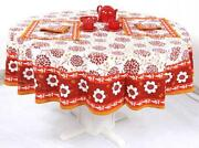 70 Round Cotton Tablecloth