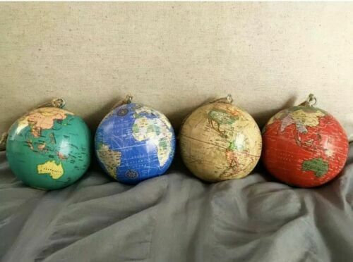 World Globe Ornament! Get yours before Christmas! 4 COLORS!