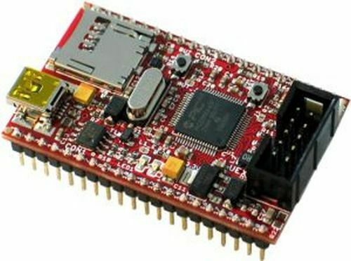 PIC32MX440F256H Pinguino Board, USB OTG, microSD, UEXT