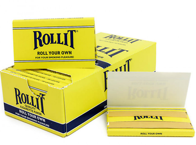 Cigarette Rolling Papers Roll-it  24 Packs Booklets Box- 100 Leaves Per Pack New