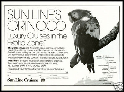 1986 vintage ad for Sun Line Cruises