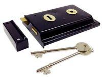 Carlisle RSE8064JAP/BP Rim Lock + 2 Kye