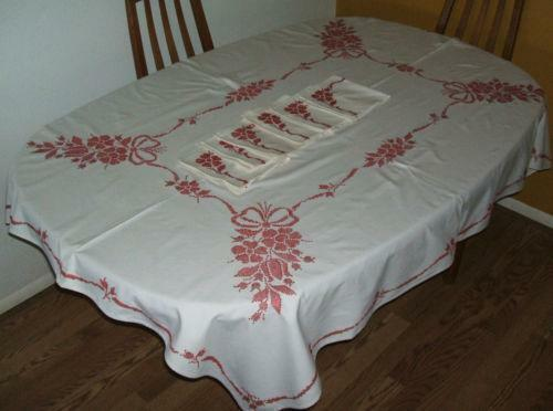 Embroidered Tablecloth | EBay