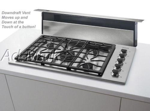 36 gas cooktop with downdraft