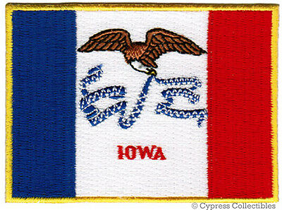 Iowa State Applique (IOWA STATE FLAG embroidered iron-on PATCH EMBLEM IA shoulder applique)