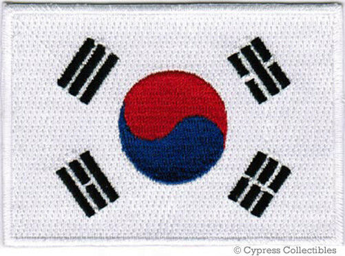 SOUTH KOREA FLAG embroidered iron-on PATCH KOREAN REPUBLIC SEOUL Taegeukgi NEW