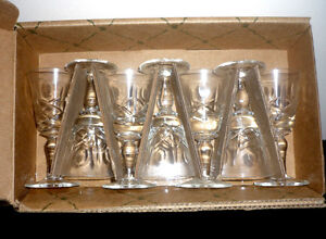 """Crystal Glasses .. NEW .. 3 1/4"""" High ... never used .. Crystal Cambridge Kitchener Area image 2"""