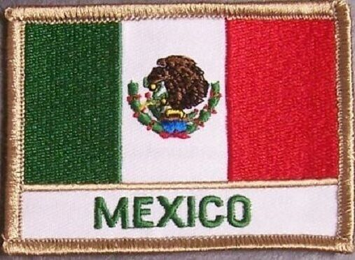 Embroidered International Patch National Flag of Mexico NEW flag
