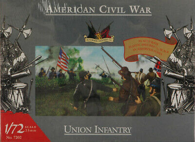 ACCURATE FIGURES Co. 1:72 SOLDATI AMERICAN CIVIL WAR UNION INFANTRY ART 7202