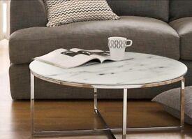 "NEXT ""novaro"" marble effect coffee table"