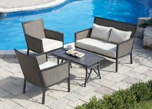 NEW HOMETRENDS 4PC PATIO SET Rockhampton 200144587 CONVERSATION SET ROCKHAMPTON PATIO FURNITURE