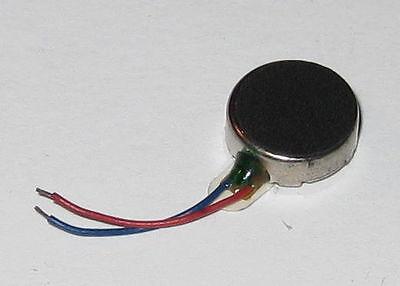Vibrator Flat Micro Motor - 1 To 3.6 Vdc - For Cellphones Beepers Mini Vibrators