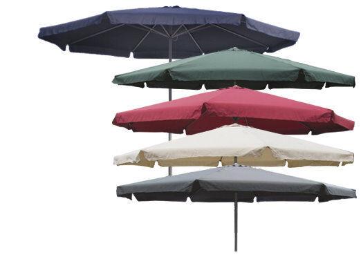 Sonnenschirm Ø 4m mit Kurbel und Krempe Schirm Gartenschirm 8 Farben verfügbar