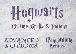 Hogwarts A5 STENCIL HM1 Spells Harry Potter Furniture Crates, SUPERIOR 250 MYLAR