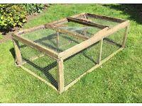 Large mesh run for hens, rabbits, guinea pigs etc. Frame needs repair