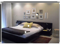 IKEA MALM BED FRAME W/ ATTACHED NIGHTSTANDS & DRESSER (MATTRESS NOT INCLUDED)