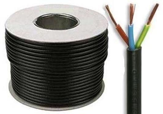 Pvc Coil Cable : Mm core flex electric cable m y round black