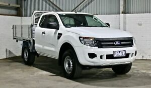 2015 Ford Ranger PX XL Super Cab 4x2 Hi-Rider White 6 Speed Sports Automatic Cab Chassis Thomastown Whittlesea Area Preview