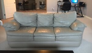 PALLISTER GENUINE LEATHER COUCH AND LOVESEAT