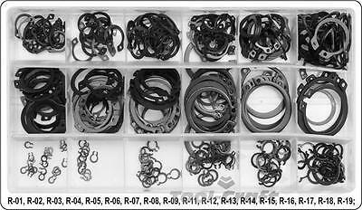 Yato professional external circlips retaining rings assorted 300 pcs (YT-06880)