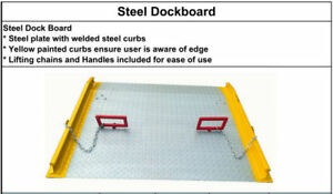 Steel dock board, aluminum dock board, loading dock plate