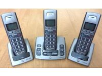 Cordless Handset Home Phone with Answer Machine plus 2 Cordless Handsets with Base Units