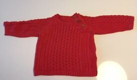 Baby boys' Marks and Spencer red jumper, 6-9 months - good condition