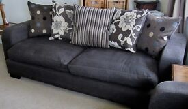 Two matching cushion back DFS sofas for sale, very good condition