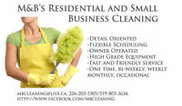 One time cleaning available!