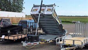 Remorque NEUVE dompeur 6x12 10000 lbs PRIX FIN DE SAISON!