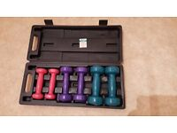 Ladies Dumbbell Set in carry case