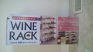 Wine Rack 5 Shelf Commercial Chrome Steel