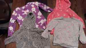 Girls size 2T sweatshirts and pjs