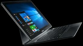 Samsung Galaxy TabPro S 12.0 SM-W708, Wifi + 4G (Unlocked), Win10, Samsung Keyboard Case + Extras