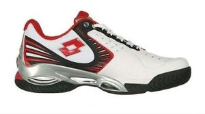 LOTTO Men's Syn-Raptor 2 Tennis Shoe white/red  Size 11 US