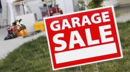 Garage Sale Everything Must Go! Moving Interstate.